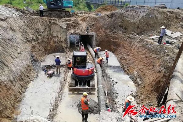 二十埠河(瑶海)重点排口自动闸阀井及一体化截污泵站施工